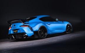 Картинка Авто, Синий, Машина, Голубой, Toyota, Car, Supra, Спорткар, Transport & Vehicles, FLAT HAT 3D Studio, …