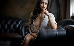 Картинка девушка, фон, портрет