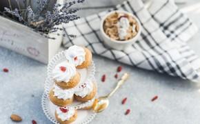 Картинка крем, выпечка, кексы, muffins
