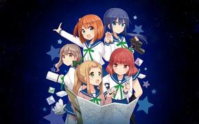 Картинка Asteroid in Love, Mira Konohata, Mari Morino, Mai Inose, Ao Manaka, Mikage Sakurai