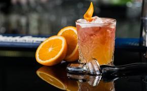 Картинка лед, апельсин, коктейль, Orange, Cocktail