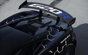Картинка купе, McLaren, зад, крыло, 2020, V8 twin-turbo, 620R, 620 л.с., 3.8 л.