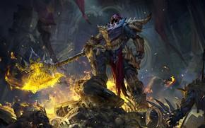Картинка оружие, огонь, робот, арт