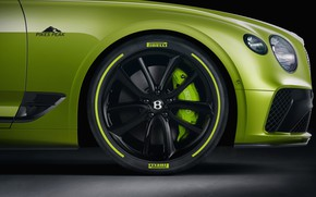 Картинка Bentley, колесо, Continental GT, Limited Edition, Pikes Peak, 2020
