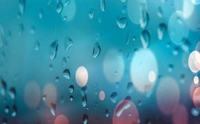 Картинка стекло, вода, капли, glass, water, background, боке, bokeh, drops