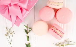 Картинка подарок, печенье, лента, миндальное