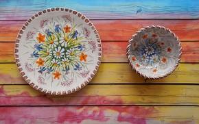 Картинка стиль, фон, тарелка, посуда, широкоформатные, background, обои на рабочий стол, полноэкранные, HD wallpapers, широкоэкранные, fullscreen, …