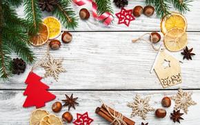 Картинка украшения, Новый Год, Рождество, christmas, wood, merry, decoration, fir tree, ветки ели