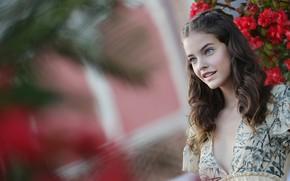 Картинка взгляд, девушка, милая, платье, Barbara Palvin