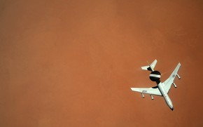 Картинка Самолет, USAF, ДРЛО, E-3 Sentry, Дозаправка