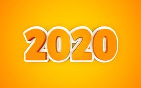 Картинка фон, праздник, цифры, Новый год, New Year, 2020
