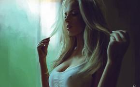 Картинка Девушка, Рисунок, Блондинка, Арт, Blonde, Ancilla Tilia, Reha Sakar, from Ancilla Tilia, by Reha Sakar