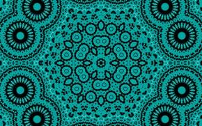 Картинка узор, круг, зелёный, кружочки, калейдоскоп