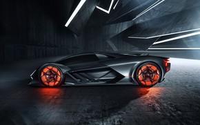 Картинка Lamborghini, суперкар, вид сбоку, гиперкар, Terzo Millennio