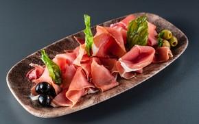 Картинка мясо, оливки, маслины