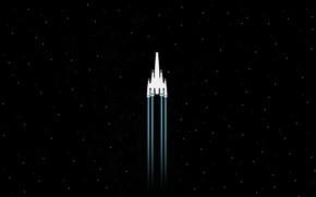 Картинка космос, звезды, самолет, космически корабль