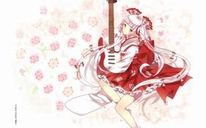 Картинка девушка, цветы, Touhou, Тохо, Тоухоу