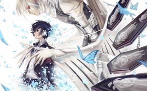 Картинка бабочки, игра, аниме, демон, арт, парень, персона, Persona 5