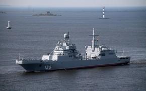 Обои корабль, большой, вмф, десантный, иван грен, проект 11711