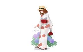 Картинка девушка, юката, Boku no Hero Academia, Моя геройская академия, Uraraka Ochako