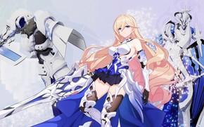 Картинка девушка, меч, рыцари, Honkai Impact 3rd, Durandal