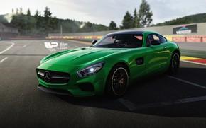 Картинка Авто, Зеленый, Машина, Mercedes, AMG, Mercedes AMG, Forza Motorsport, Game Art, Transport & Vehicles, Mercedes …