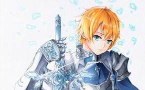 Картинка взгляд, парень, Мастера меча онлайн, Sword Art Online