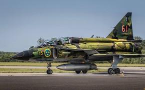 Картинка Истребитель, Пилот, Шасси, SAAB, ВВС Швеции, Saab 37 Viggen, ПТБ, Gdynia Aerobaltic 2019