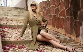 Картинка секси, волосы, блондинка, ножки, красотка, Carla Monaco