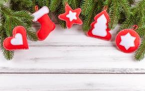 Картинка украшения, сердце, Новый Год, Рождество, Christmas, heart, wood, New Year, decoration, Merry, fir tree, ветки …