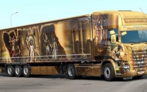 Картинка дизайн, игра, грузовик, аэрография, Scania, Simulator 2, Euro Truck