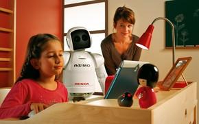 Картинка honda, robot, asimo