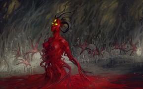 Картинка грибы, существо, пещера, романтика апокалипсиса
