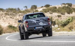 Картинка дорога, серый, разметка, Ford, Raptor, пикап, Ranger, 2019