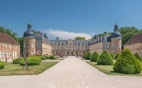 Картинка парк, замок, Франция, дворец, France, Бургундия, Bourgogne, Дворец Пьер-де-Брес, Château de Pierre-de-Bresse