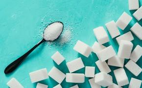 Картинка spoon, sugar, sugar cubes