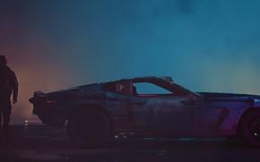 Картинка фон, игра, автомобиль, киберпанк, CD Projekt RED, Cyberpunk 2077