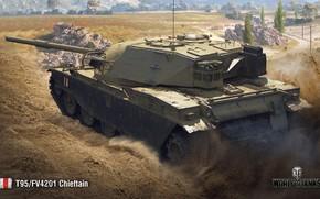 Картинка WoT, World of Tanks, Wargaming, Chieftain, T95/FV4201