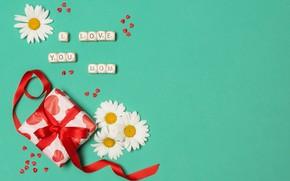 Картинка Love, Mom, цветы, подарок