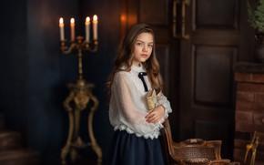 Картинка девочка, книга, Вероника, Бармина Анастасия