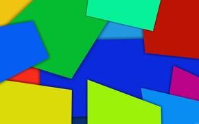 Картинка цвета, яркие, тени, фигуры, слои