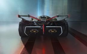 Картинка Lamborghini, Концепт-кар, Lambo, V12, Антикрыло, Vision Gran Turismo, 2019, Lambo V12 Vision