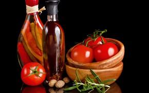 Картинка банки, орехи, овощи, помидоры