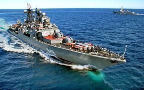 Картинка маневрирование, Адмирал Пантелеев, проект 1155