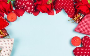 Картинка любовь, цветы, сердце, розы, red, love, romantic, hearts, valentine's day, gift, roses, frame