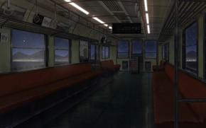 Картинка горы, ночь, поезд