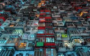 Картинка город, дом, Hong Kong