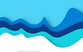 Картинка белый, линии, абстракция, фон, голубой, vector, colorful, Abstract, design, background, papercut