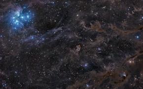 Картинка космос, звезды, созвездия, бесконечное, туманности