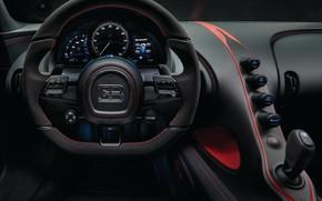 Картинка руль, Bugatti, салон, 2018, Sport, Chiron